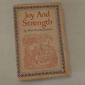 Vintage 1970s hardback book Joy and Strength